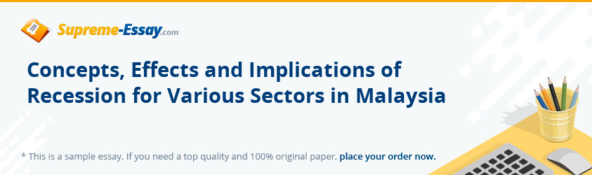 Concepts, Effects and Implications of Recession for Various Sectors in Malaysia