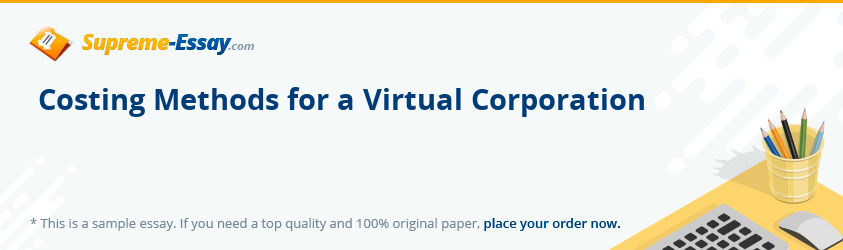 Costing Methods for a Virtual Corporation