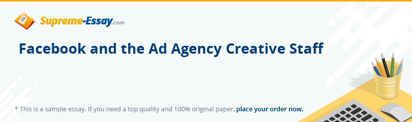 Facebook and the Ad Agency Creative Staff