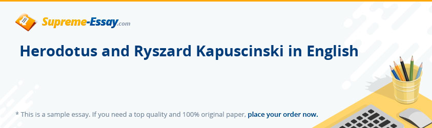 Herodotus and Ryszard Kapuscinski in English
