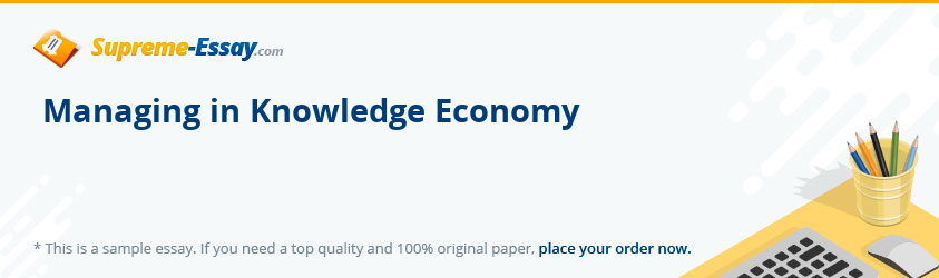 Managing in Knowledge Economy