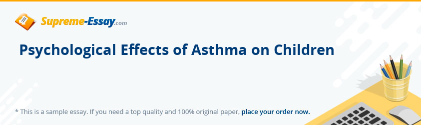 Psychological Effects of Asthma on Children