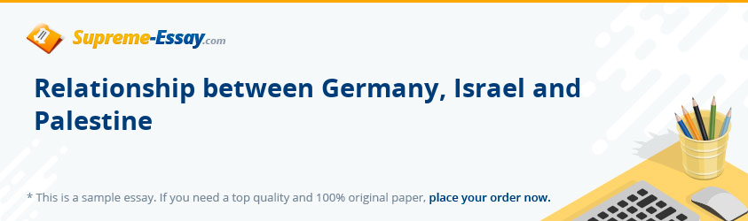 Relationship between Germany, Israel and Palestine