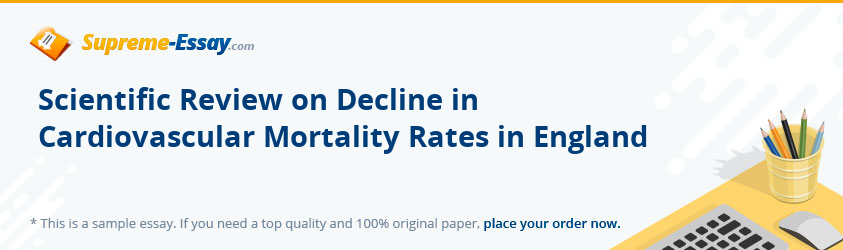 Scientific Review on Decline in Cardiovascular Mortality Rates in England