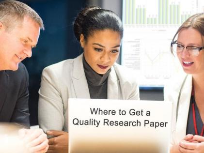 Where to Get a Quality Research Paper?